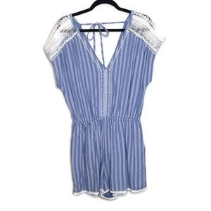 Abercrombie & Fitch blue and white striped Romper